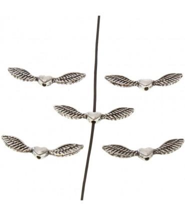 Perles fantaisie Ailes d'ange (5 pièces)