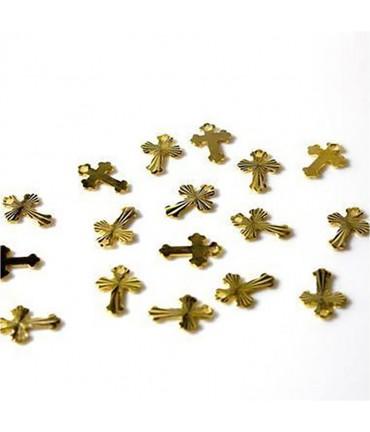 Breloque pendentif Croix ciselée (50 pièces)