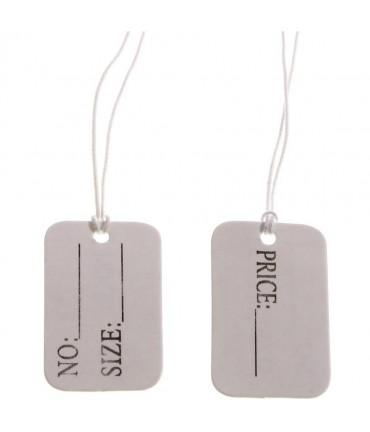 Etiquette prix pour bijoux (50 pièces) - Blanc