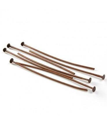 Tiges clous à têtes plates 40 mm (200 pièces) - Cuivre
