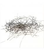 Tiges clous à têtes rondes pour création de bijoux 40 mm (100 pièces) - Gris