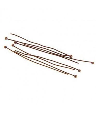 Tiges clous à têtes rondes pour création de bijoux (100 pièces) - Cuivre