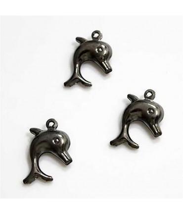 Breloque pendentif Dauphin (20 pièces) - Anthracite