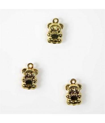 Breloque pendentif Petit ourson (20 pièces) - Doré