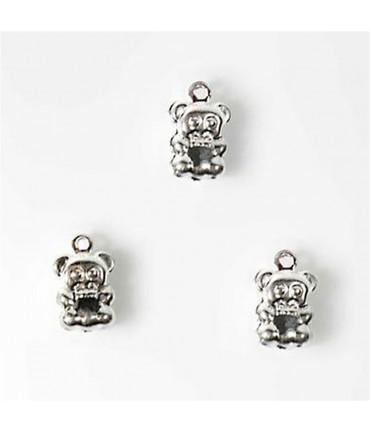 Breloque pendentif Petit ourson (20 pièces) - Argenté