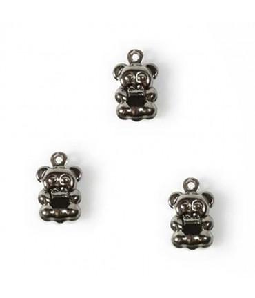 Breloque pendentif Petit ourson (20 pièces) - Anthracite