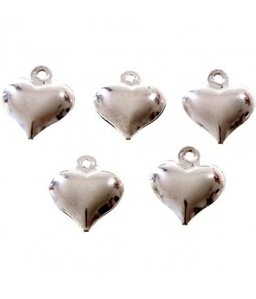 Breloque pendentif Cœur (20 pièces) - Argenté