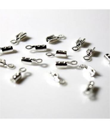 Embouts de serrage pour fil de 1 mm (100 pièces) - Argenté
