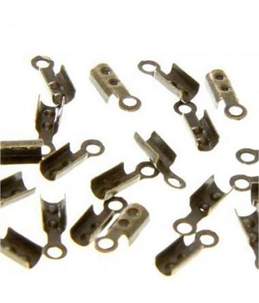 Embouts de serrage pour fil de 1 mm (100 pièces) - Bronze