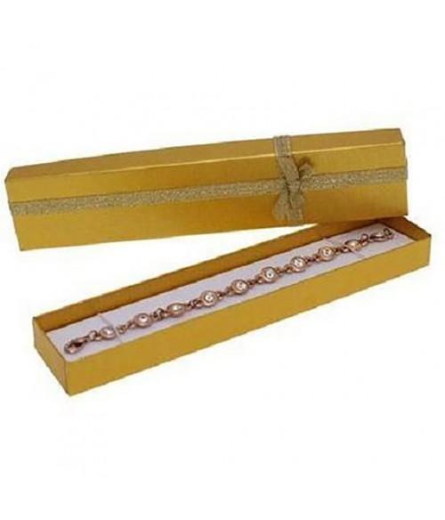 Ecrin pour bracelet avec nœud 4 x 20 cm (12 pièces)