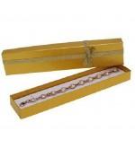 Ecrin pour bracelet avec nœud 4 x 20 cm (12 pièces) - Doré
