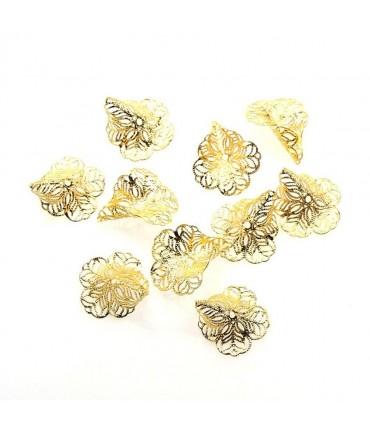 Calottes coupelles en filigrane (10 pièces)