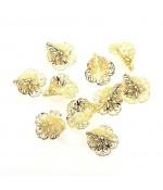 Calottes coupelles en filigrane (10 pièces) - Doré
