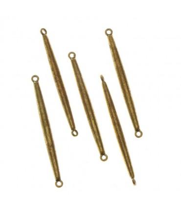 Connecteur bijoux Clou (5 pièces) - Doré