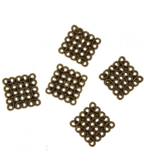 Connecteurs bijoux chandelier Carré (5 pièces)