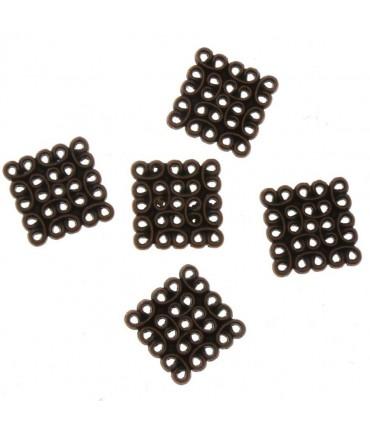 Connecteurs bijoux chandelier Carré (5 pièces) - Cuivre
