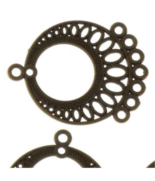 Connecteur rond boucle chandelier (5 pièces)