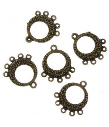 Connecteur chandelier Maya (5 pièces) - Bronze