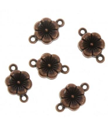 Connecteur bijoux Petite fleur (5 pièces) - Cuivre