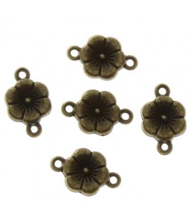 Connecteur bijoux Petite fleur (5 pièces) - Bronze