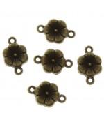 Connecteur bijoux Petite fleur (5 pièces)