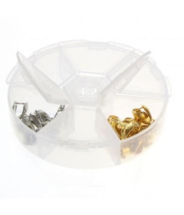 Boite de rangement perles accessoires bijoux 6 compartiments - Translucide