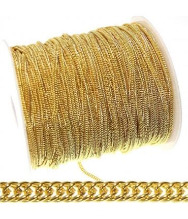 Chaine maille gourmette 5 x 3,5 mm (1 mètre)