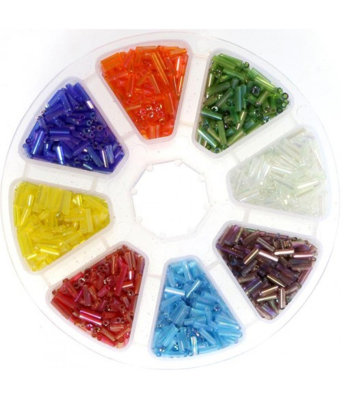 Boite de perles rocaille en verre Tubes Bugle (3200 pièces)