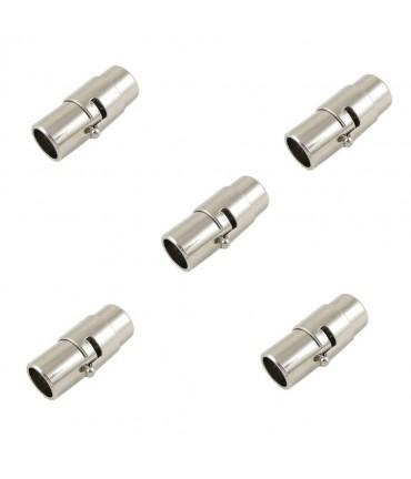 Fermoir aimanté à vis Colonne design 17 x 7 mm (5 pièces) - Gris