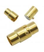 Fermoir aimanté à vis colonne Design 15,5x7 mm (5 pièces)