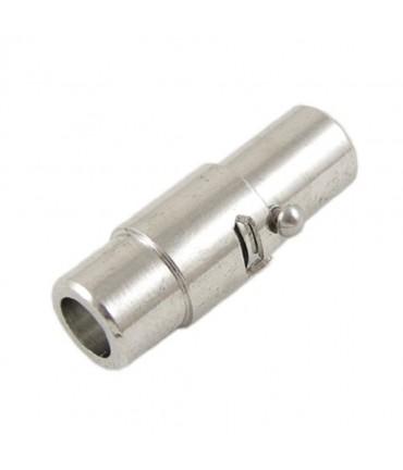 Fermoir aimanté à vis colonne Design 15,5x7 mm (5 pièces) - Gris