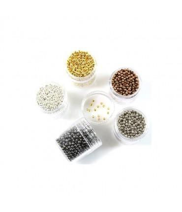 Perles intercalaires 2 mm plusieurs couleurs (850 pièces)