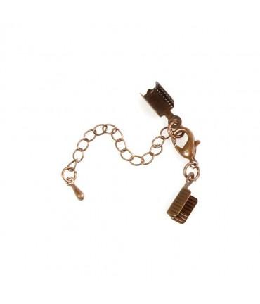 Kit fermeture bracelet collier ruban cordon 50 mm (5 pièces) - Cuivre