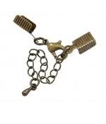 Kit fermeture bracelet collier ruban cordon 50 mm (5 pièces) - Bronze