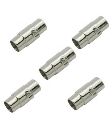 Fermoir aimanté à vis en acier inoxydable Design 18 x 7 mm (5 pièces)