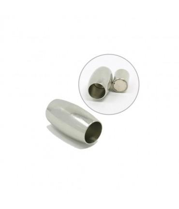 Fermoir aimanté Baril acier inoxydable 19x12 mm (5 pièces)