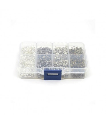 Boite de cache nœuds 4 couleurs 9 x 3 mm (1000 pièces)
