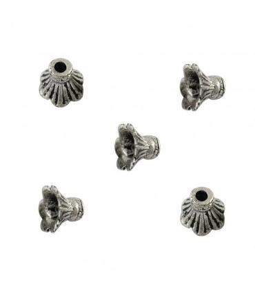 Calotte coupelle Trompette 11,5 x 8,5 mm (20 pièces) - Argenté