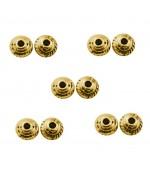 Perles intercalaires Toupie Tressée 5 x 3 mm (20 pièces)