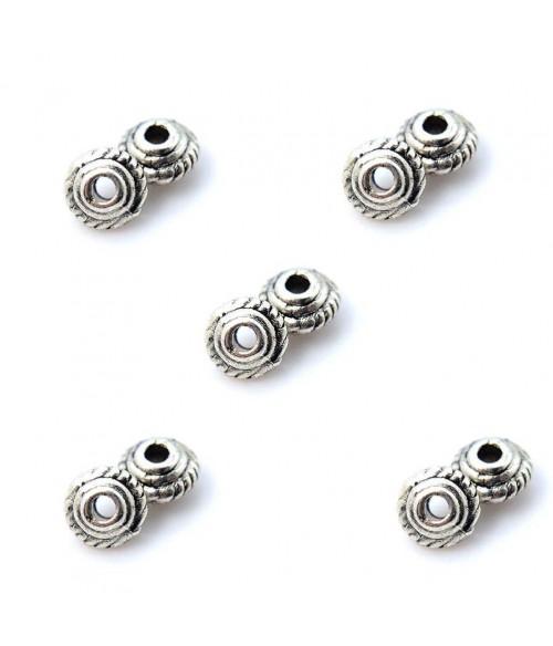 Perles intercalaires Toupie Tressée 5 x 3 mm (5 pièces)
