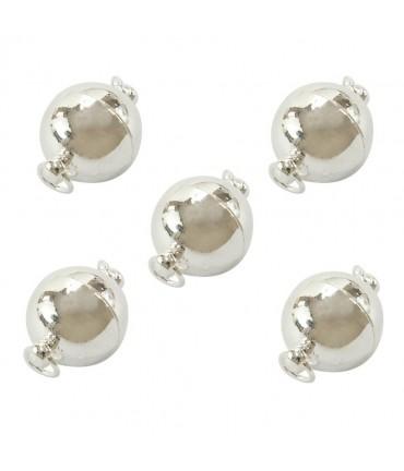 Fermoir magnétique Sphère en laiton 19 x 12 mm (5 pièces)
