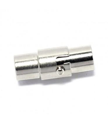 Grand fermoir magnétique à vis 18 x 10 mm (5 pièces) - Argenté
