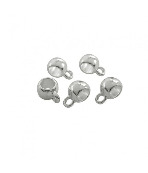 Bélière pour pendentif ronde 11,5 x 8 mm (10 pièces)