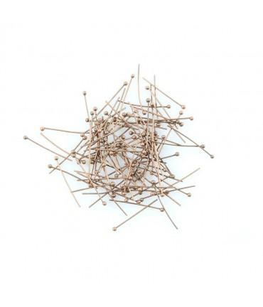 Tige clou bijoux à bout rond 20 mm (100 pièces) - Cuivre