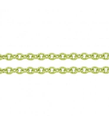 Chaine bijoux à mailles forçat 7 x 6 mm (1 mètre) - Vert clair