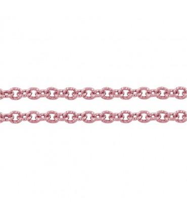 Chaine bijoux à mailles forçat 7 x 6 mm (1 mètre) - Rose