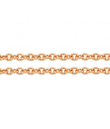 Chaine bijoux à mailles forçat 7 x 6 mm (1 mètre) - Orange