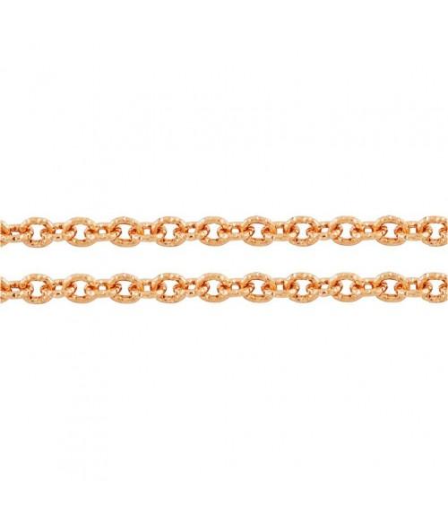 Chaine bijoux à mailles forçat 7 x 6 mm (1 mètre)