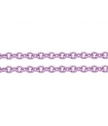 Chaine bijoux à mailles forçat 7 x 6 mm (1 mètre) - Mauve