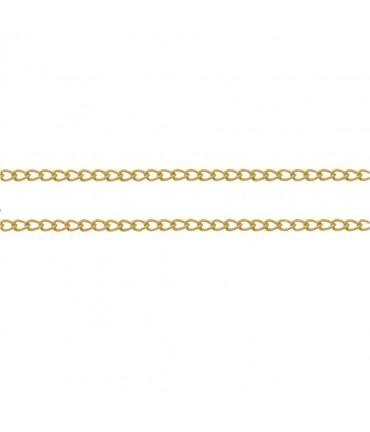Chaine bijoux petites mailles cheval 2 x 1 mm (1 mètre)